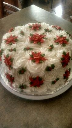 Yoghurt cake with Cook Expert - HQ Recipes Christmas Cake Designs, Christmas Cake Decorations, Christmas Sweets, Holiday Cakes, Holiday Baking, Christmas Baking, Christmas Desserts, Christmas Cakes, Xmas Cakes