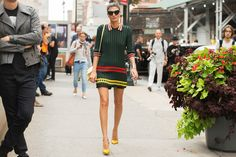The NYFW Street-Style Looks That Truly Stunned #refinery29  Giovanna Battaglia shows off her version of a tennis outfit.