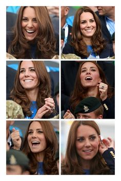 The Many faces of Kate, on the second day of the Royal couples visit to the Commonwealth Games 29th July 2014