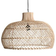 Handmade rattan lamp pendant - sizes may vary slightly.Also available in a black coloured Rattan. Rattan Pendant Light, Bright Homes, Pendant Lamp, Hanging Lamp, Pendant Light, Room Lamp, Modern Lamp, Lamps Living Room, Chandelier Shades