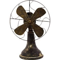 """""""With its antiqued look, this metal fan decor brings flea market flair to any space.   Product: DecorConstruction Ma..."""