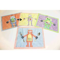 The Little Acorn The Little Acorn Purple Robot Placemat