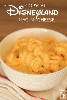 Copycat Disneyland Mickey's Mac n' Cheese from FamilyFoodFun.com. It is so delicious!