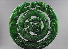 Vintage chinese old manual sculpture delicate jade dragon phoenix jp chinese old handwork carved jade dragon phoenix pendant aloadofball Images