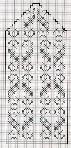 Arquivo dos álbuns Filet Crochet Charts, Knitting Charts, Knitting Stitches, Knitting Patterns, Embroidery Patterns, Knitted Mittens Pattern, Knit Mittens, Knitting Socks, Crochet Curtains