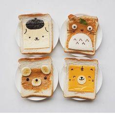 Omg cute breakfast idea www.inuinu.com #inuinu #shopinuinu