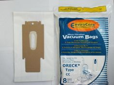 8 Pack Oreck Style CC Vacuum Bags, Designed To Fit All Oreck XL Uprights.