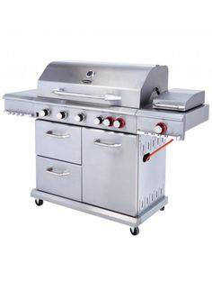 Cook perfectly grilled meat and vegetables with the best gas BBQs from John Lewis & Partners, Weber, Char-Broil and Best Gas Barbecue, Grill Machine, Barbecues, Asda, Grilling, Outdoor Decor, Battle, Space, Cooking