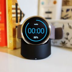 Qi Wireless Charger Cradle for Moto 360 and 2ND Gen smartWatch (Black)