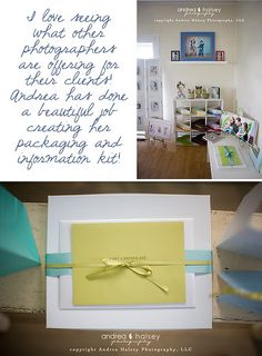 Will you tell us a little about your business style? My studio is a little cottage style studio on a boutique street and my business style matches the type of Simple Packaging, Pretty Packaging, Packaging Ideas, News Studio, Studio Ideas, Dream Studio, Photography Packaging, Halsey, Restaurant Design