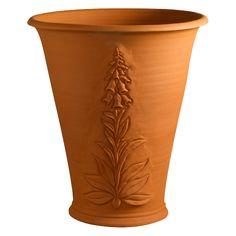 Whichford Pottery: RHS Foxglove Flowerpot - RHS Wildflower Collection