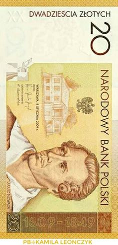 The 200th birthday anniversary of Juliusz Słowacki  Narodowy Bank Polski issued a collector banknote with the face value of PLN 200 to commemorate the 200th birthday anniversary of Juliusz Słowacki, poet and playwright, one of the most eminent authors of the Romanticism in Poland