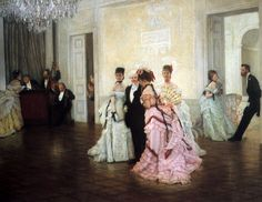 Too Early, by James Tissot, 1873. at Guildhall Art Gallery