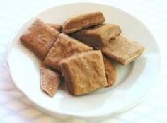 Photo of healthy dog biscuits, made from one of my dog biscuit recipes.