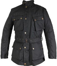 b60dbfb74a Richa Bonneville Wax Cotton Waterproof Motorcycle Jacket - Black - FREE  Delivery over - Best price in the UK - from the UK s largest motorcycle  clothing ...