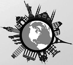 """Vati Leaves Removable Creative World Famous Buildings Decal Sticker Skin Art Black for 13"""" 15"""" 17"""" Inch Samsung, Lenovo, HP, ASUS, Chromebook, Toshiba, Dell, Chromebook, Acer And Other Laptops, http://www.amazon.com/dp/B00YUB6NME/ref=cm_sw_r_pi_awdm_lFxNvb6MRGN5P"""
