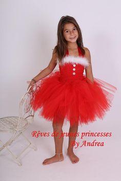 Tout Nom Bébé Filles Renne de Noël Tenue Rouge Tutu Costume Robe de Noël 1st UK