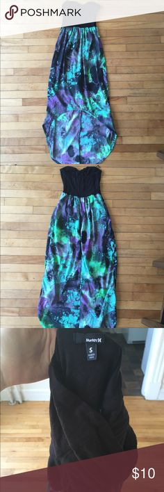 High low dress Lightly worn Hurley high low paint splatter dress Hurley Dresses High Low
