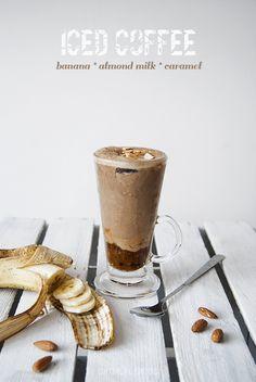 banana caramel iced coffee