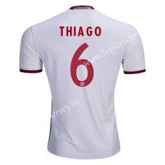 2016/17 Bayern München THIAGO 2nd Away White Thailand Soccer Jersey