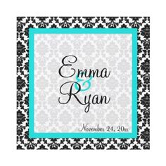 Fun Damask Wedding Invitation -   A fun blend of classic and modern for these cute wedding invitations!