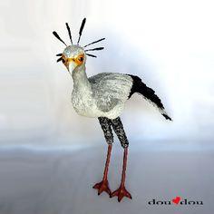 Secretary Bird Sculpture #HAF #HAFshop #handmade #artist