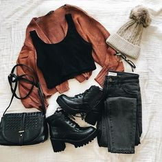 Really Cute Outfits, Cute Comfy Outfits, Cute Fall Outfits, Winter Fashion Outfits, Girly Outfits, Fall Winter Outfits, Simple Outfits, Look Fashion, New Outfits
