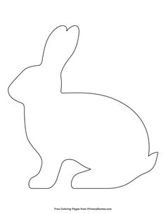 Free printable Easter Coloring Pages eBook for use in your classroom or home from PrimaryGames. Print and color this Simple Rabbit Outline coloring page. rabbit template bunnies Simple Rabbit Outline Coloring Page Easter Bunny Template, Easter Templates, Bunny Templates, Easter Printables, Templates Printable Free, Easter Bunny Colouring, Bunny Coloring Pages, Easy Coloring Pages, Easter Coloring Pages Printable