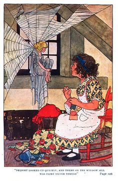 1911 illustration by Maginel Wright Enwright for The Garden of Heart's Delight by Ida Huntington Elves And Fairies, Vintage Fairies, Children's Book Illustration, Book Illustrations, Fairytale Art, Beautiful Fairies, Vintage Children's Books, Magical Creatures, Faeries