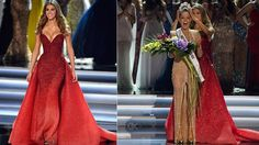 Miss Universe 2016 Iris Mittenaere Wore Michael Cinco for Her Final Walk Michael Cinco Gowns, Prom Night, Looking Stunning, Lady In Red, Evening Gowns, Iris, Beautiful Dresses, Wedding Gowns, Fancy