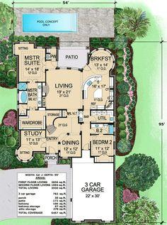 Plan 36191TX: Stunning European Home Plan