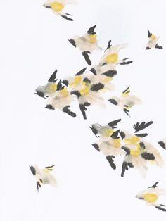 Hoss Intropia - Autumn-Winter 2014-2015 Short Sleeves, Graphics, Yellow, Floral, Life, Inspiration, Art, Biblical Inspiration, Craft Art