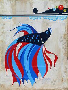 "Sweet pinner says: ""I have this betta tattooed on my forearm to honor the memory of my beloved fish, Carl Jr. Betta Aquarium, Betta Fish, Betta Tattoo, Carl's Jr, Cute Fish, Graphic Art, Artsy, Wall Art, Drawings"