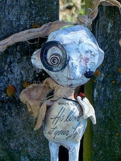 Outsider Art Doll Quirky Hanging Doll by MysticHillsNgaroma