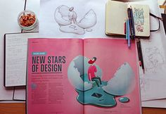 Computer Arts cover design illustration by Maria Tiurina, via Behance