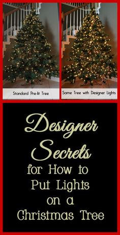 The first step to decorating a Christmas tree, whether fresh or artificial, should be putting on the Christmas lights.   Often people do not add enough lights or add them incorrectly, which does not illuminate the Christmas tree like it should.   Here are some designer secrets for adding Christmas lights to a Christmas tree, even if you are using a pre-lit tree this year.