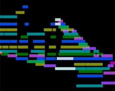 Clair de lune, by Claude Debussy, played by Stephen Malinowski, with graphical score.