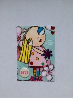 Sassy Monster Crafts: Hello, Here is an ATC I made using the digital st...