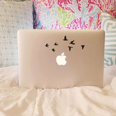 Flying Birds Vinyl Decal  Laptop Decal  Macbook by moonandstarco