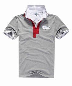polo ralph lauren outlet online Lacoste Short Sleeve Oversized Crocodile Pique Polo Shirt Grey http: