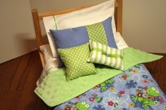 American Girl Doll Bedding by UrbanDreamz on Etsy, $28.00
