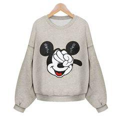 Seemee invierno mujeres sudadera carácter Mickey imprimir cálido Fleece jerséis con capucha deportes femenina de gran tamaño , sudaderas con capucha chándales en Sudaderas de Moda y Complementos Mujer en AliExpress.com | Alibaba Group