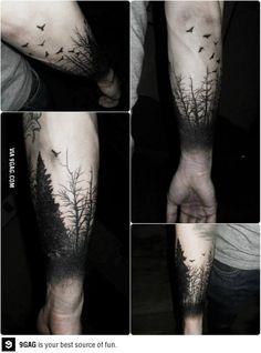 This is just something else. Slenderman is hidden in that tattoo