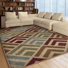 Carolina Weavers Riveting Shag Collection Cardita Multi Shag Area Rug (7u002710  X 10