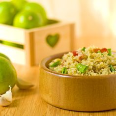 The Midnight Baker: Bacon Quinoa Salad with Garlic Lime Honey Dressing