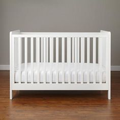 Modern Wooden Carousel Baby Crib (White) | The Land of Nod