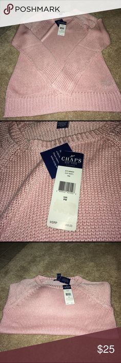 Sweater Pink pullover sweater. Price Negotiable Chaps Sweaters