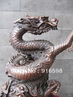 13-pure-bronze-carvings-chinese-royal-imperial-five-claw-cloud-dragon-statue--YYY.jpg (832×1110)