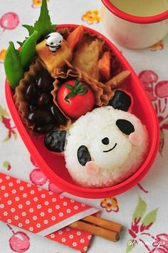happy panda | Kyaraben (or chara-ben), a shortened form of character bento !