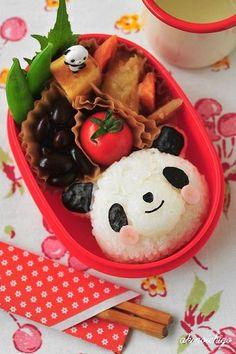 happy panda | Kyaraben (or chara-ben), a shortened form of character bento !